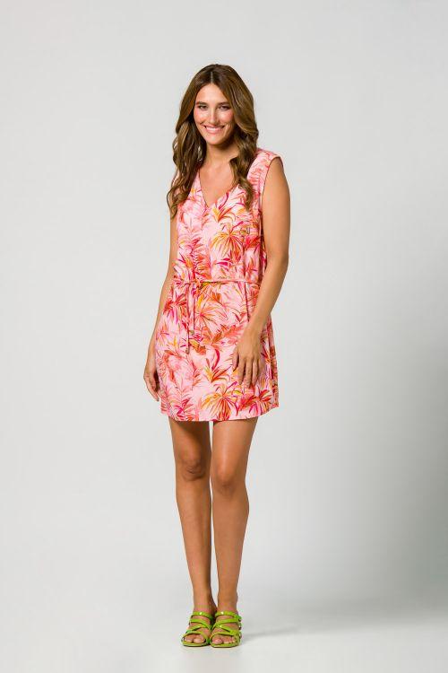 Φόρεμα beachwear εμπριμέ σε απαλό ύφασμα βισκόζι