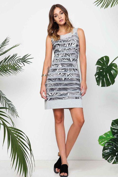 Φόρεμα θαλάσης σε ύφασμα βισκοζι