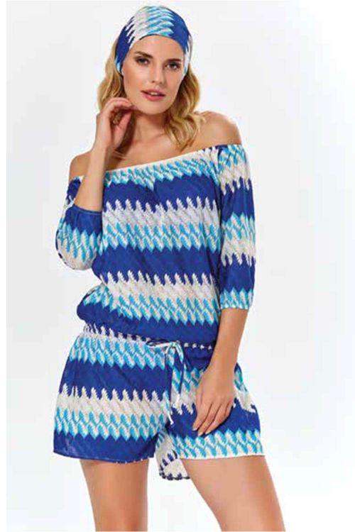 Φόρεμα θαλασσης σορτς εμπριμέ
