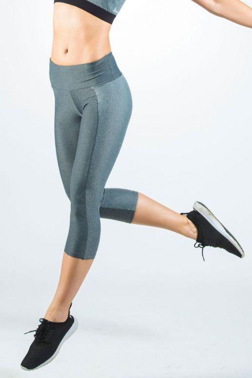 Κολάν δίχρωμο με μελανζέ ύφασμα ιδανικό για γιόγκα-τρέξιμο