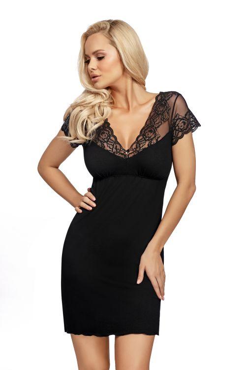Νυχτικό φόρεμα με δαντέλα στους ώμους