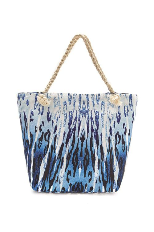 Τσάντα θαλάσσης βαμβακερή 100% με εσωτερικές τσέπες