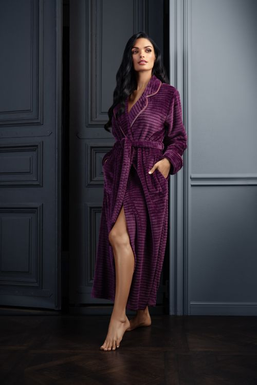 Ζεστή ρόμπα γυναικεία fleece