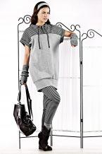 Φόρεμα από βαμβακερό φούτερ με κέντημα